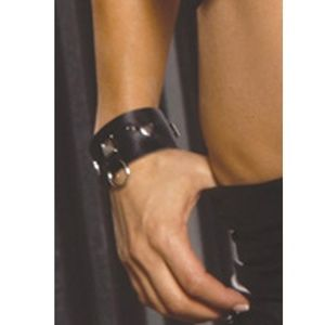 Leather Wrist Cuffs Bands Square Nail Heads Hearts